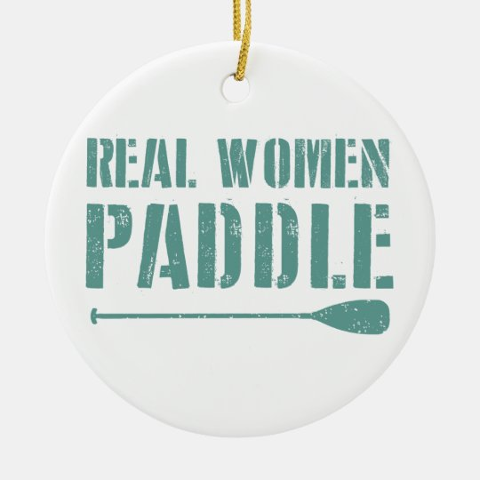 Real Women Paddle Round Ceramic Decoration