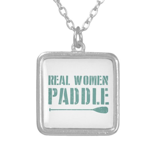 Real Women Paddle Silver Plated Necklace
