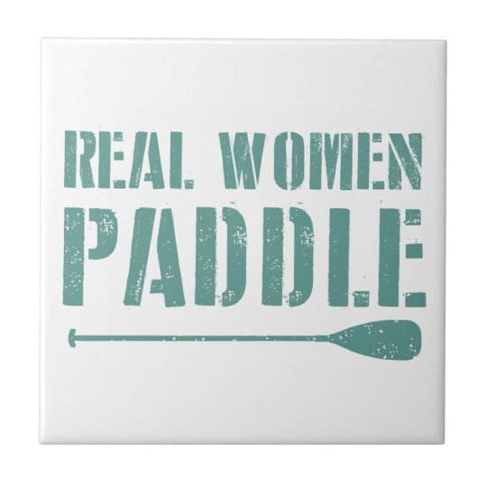 Real Women Paddle Small Square Tile