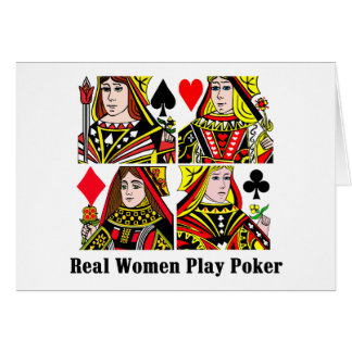Real Women Play Poker Card