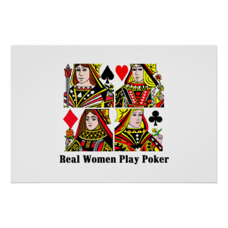 Real Women Play Poker Poster