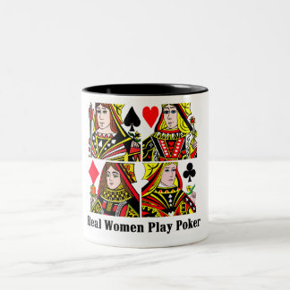 Real Women Play Poker Two-Tone Coffee Mug