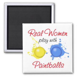 Real Women Play with Paintballs Magnets