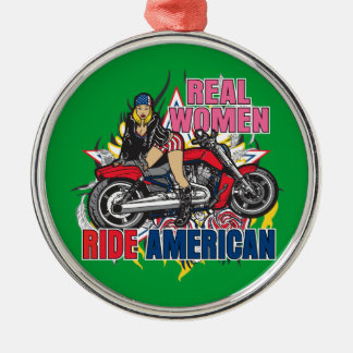 Real Women Ride American Motorcycles Ornament