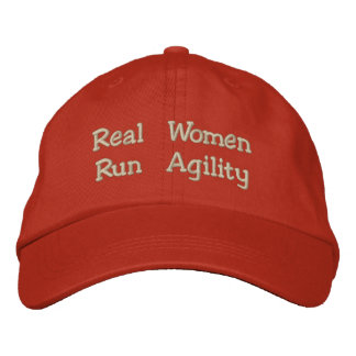 Real Women Run Agility Embroidered Baseball Caps