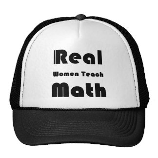 Real Women Teach Math Cap