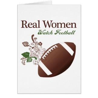 Real women watch football card