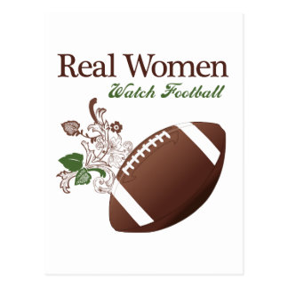 Real women watch football post cards