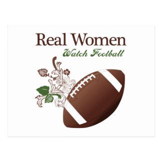 Real women watch football postcard