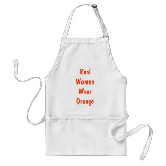 Real Women Wear Orange Standard Apron