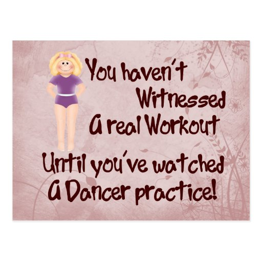 Real Workout Postcard