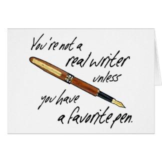 Real Writer Greeting Card