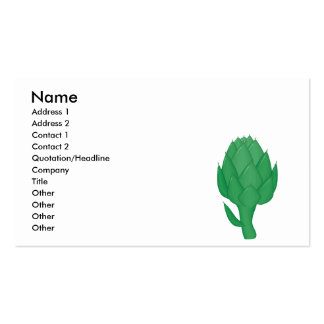 realistic artichoke business cards