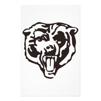 Realistic Bear Stationery Paper