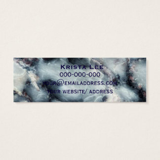 Realistic Blue Marble Modern Mini Business Card