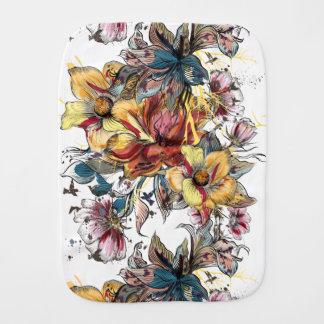 Realistic drawn Floral bouquet pattern Burp Cloth