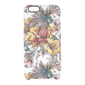 Realistic drawn Floral bouquet pattern Clear iPhone 6/6S Case