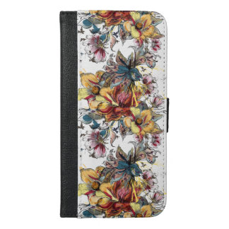Realistic drawn Floral bouquet pattern iPhone 6/6s Plus Wallet Case