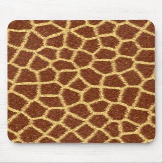 Realistic Faux Giraffe Print Animal Fur Pattern Mouse Pad