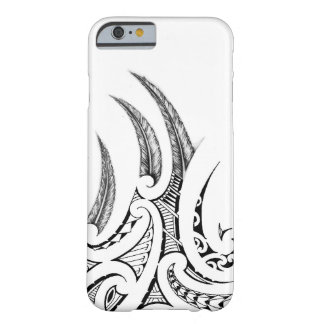 Realistic feathers in Maori wings tattoo design Barely There iPhone 6 Case