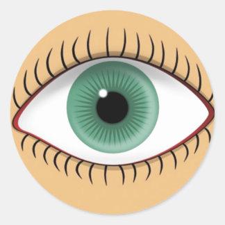 Realistic Funny Human Eye Round Sticker