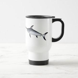 Realistic Gray/Grey Swordfish Travel Mug