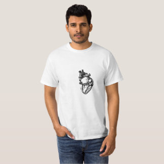 Realistic Heart Line Art T-Shirt