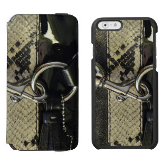 Realistic Leather Snakeskin Look with Clasp Incipio Watson™ iPhone 6 Wallet Case