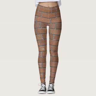 Realistic Red Terra Cotta Bricks Texture Leggings