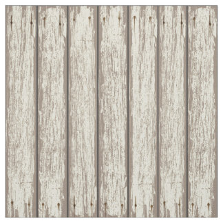 Realistic Rustic Painted Wood Planks 2 Fabric