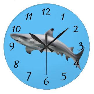 Realistic Shark Large Clock