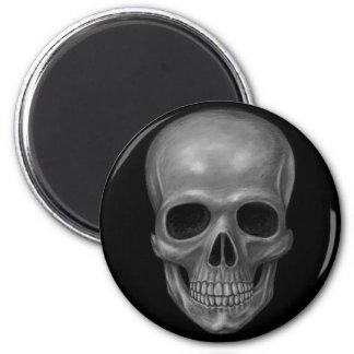 Realistic Skull 6 Cm Round Magnet