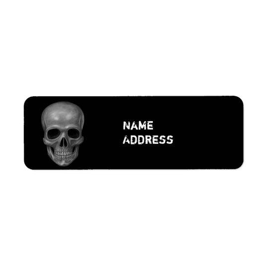 Realistic Skull Return Address Label