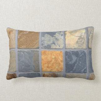 Realistic Slate Tiles Lumbar Pillow