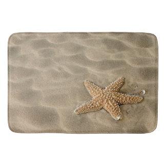 Realistic Soft Beach Sand with Starfish Bath Mat