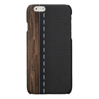 Realistic Wood and Stitched Leather Texture