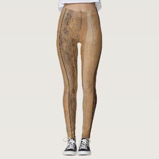 Realistic Wood Flooring Leggings