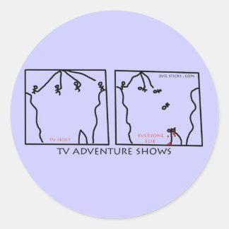 Reality Adventure Shows Round Sticker