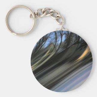 Reality Bending Basic Round Button Key Ring