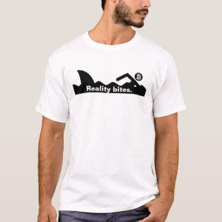 Reality Bites - Shark after Swimmer Stick Figure T-Shirt