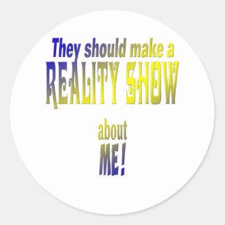 Reality Show Round Sticker