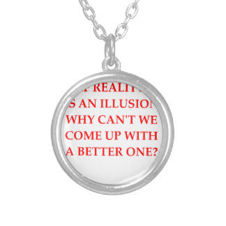 REALITY SILVER PLATED NECKLACE