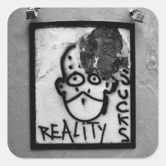 Reality Sucks Square Stickers