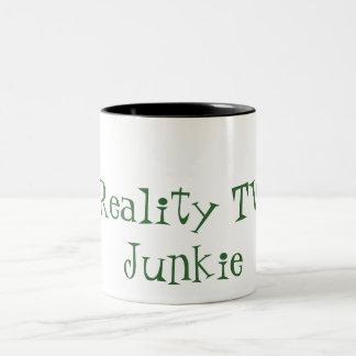 Reality TV Junkie Two-Tone Coffee Mug