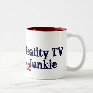 Reality TV Junkie Two-Tone Mug