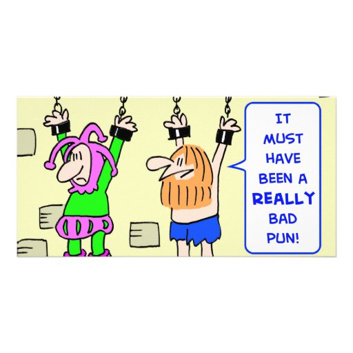 really bad pun hanging prisoners picture card