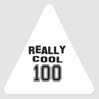 Really cool 100 triangle sticker