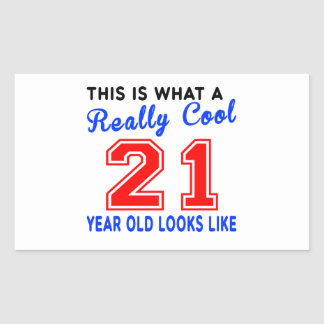Really cool 21 rectangular sticker