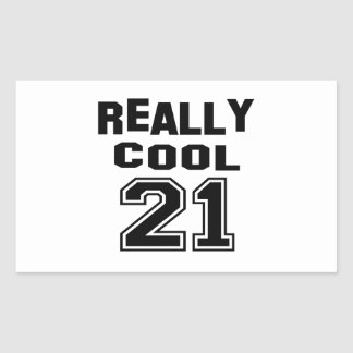 Really Cool 21 Rectangle Stickers