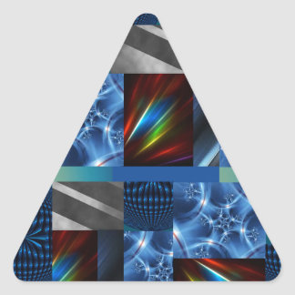 really cool blue triangle sticker